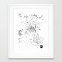 dublin Framed Art Prints featuring DUBLIN by Maps Factory