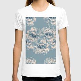 Blush Blue Peony Flower Bouquet #1 #floral #decor #art #society6 T-shirt