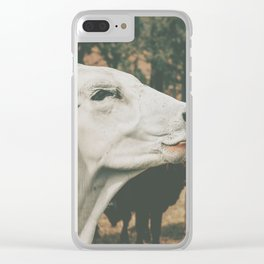 cow wide Clear iPhone Case