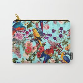 Floral and Birds XI Carry-All Pouch