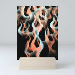 Airbrushed Flames Digital Image Mini Art Print