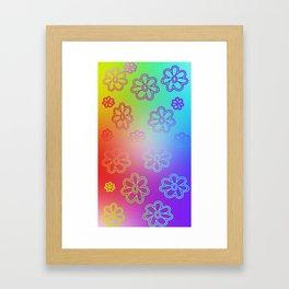 Ombre Hippie Framed Art Print