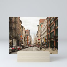 Shopping Day in Soho Mini Art Print