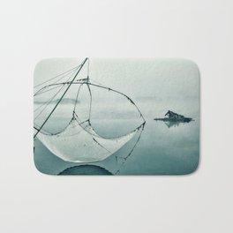 Frozen Fishing net Bath Mat