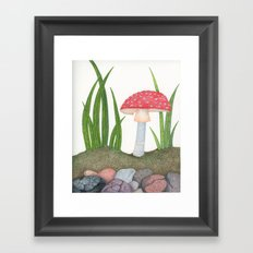 Amanita Muscaria Framed Art Print