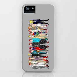 Gray Heroes Group Fashion Outfits iPhone Case