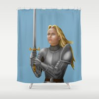 knight Shower Curtains featuring Knight by Egberto Fuentes