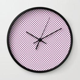 Radiant Orchid Polka Dots Wall Clock