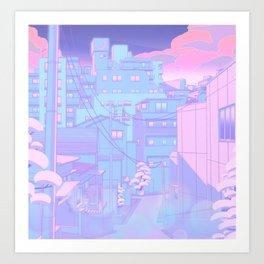 Moonlight City Art Print