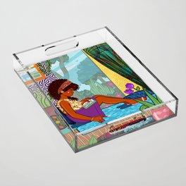 Bookworm Acrylic Tray