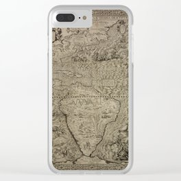 The americas by Diego Gutierrez, 1562 Clear iPhone Case