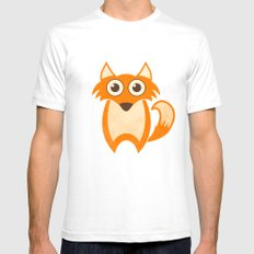 Lil' Fox White Mens Fitted Tee SMALL