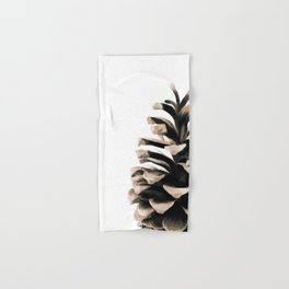 Pinecone Winter Print 3 Hand & Bath Towel