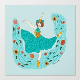 Summer Ballerina-Summer Illustration-Summer Season  Canvas Print