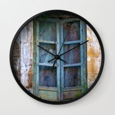Abandoned Sicilian House in Noto Wall Clock