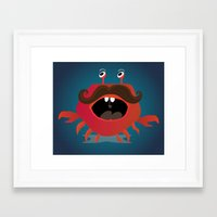 cancer Framed Art Prints featuring Cancer by Maria Jose Da Luz