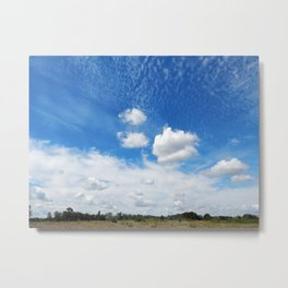 Panorama and cloud view in the sky Metal Print