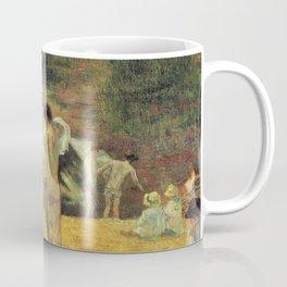 Paul Gauguin - Breton Boys Bathing (The Bathing by the Mill in Bois d'Amour, Pont-Aven) (1886) Coffee Mug