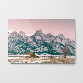 Grand Tetons Barn Metal Print
