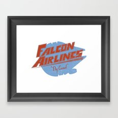 Falcon Airlines Framed Art Print