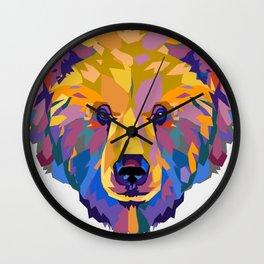 Wild Bear Wall Clock