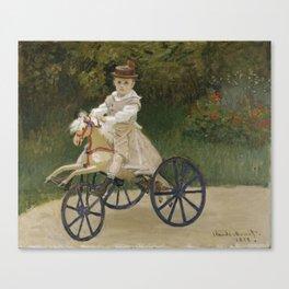 Jean Monet on his Hobby Horse Canvas Print