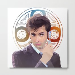 The 10th Doctor Metal Print
