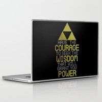 motivational Laptop & iPad Skins featuring Triforce Motivational by JesseThomas