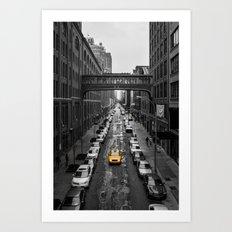 Iconic New York Cab Art Print