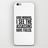 vector iPhone & iPod Skins featuring Good morning, I see the assassins have failed. by CreativeAngel