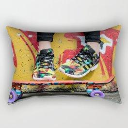 skateboard yellow red Rectangular Pillow