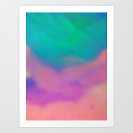 Powder Drop Art Print