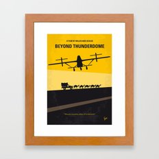 No051 My Mad Max 3 Beyond Thunderdome minimal movie poster Framed Art Print