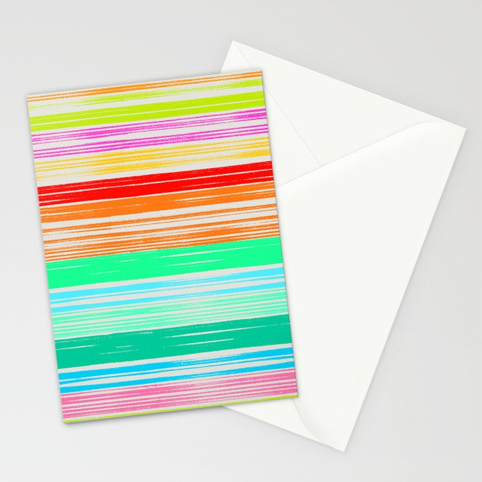 Waves_Multicolor2 Stationery Cards