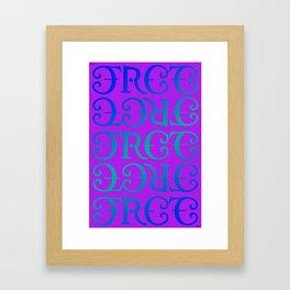 Free love version 2 Framed Art Print