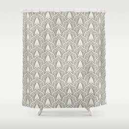 Art Deco beige and grey. Shower Curtain