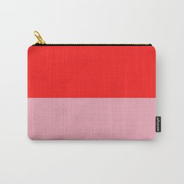 Watermelon Red & Peach Pink Carry-All Pouch