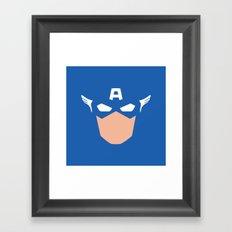 Superhero America Captain Framed Art Print