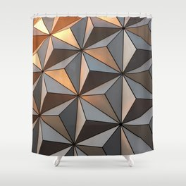Triangle pattern 3d Shower Curtain