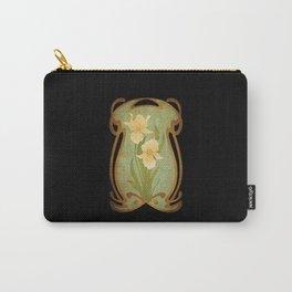 Art Nouveau Flowers Carry-All Pouch