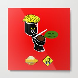 Dump in Toilets with Dirty Suites Metal Print