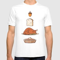 thanksgiving White Mens Fitted Tee MEDIUM