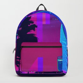 Synthwave Neon City #15: Vice city Backpack