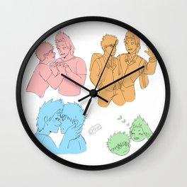 A bunch of bakushima/kiribaku sketches Wall Clock