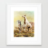 wild things Framed Art Prints featuring Wild Things by Trudi Simmonds