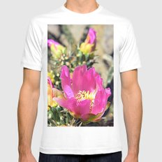 Cacti and Ruins 2 White Mens Fitted Tee MEDIUM