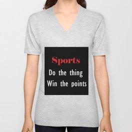 Sports Unisex V-Neck