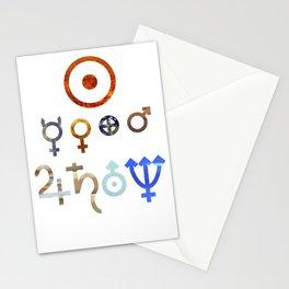 Planetary Symbols II Stationery Cards