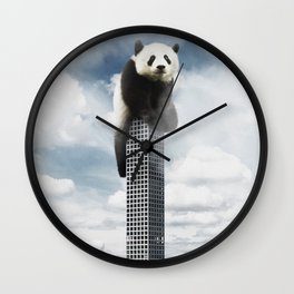 Panda on top Wall Clock