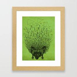 Thorny hedgehog Framed Art Print
